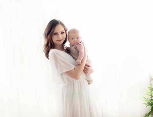 3 månader baby F. med hans vackert mamma :-)