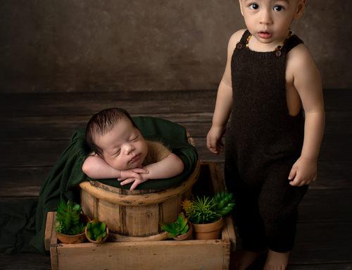 Nyföddfotografering i Stockholm.